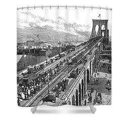 Ny: Brooklyn Bridge, 1883 Shower Curtain by Granger