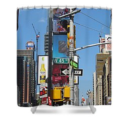 Nyc Directions Shower Curtain by Randi Shenkman