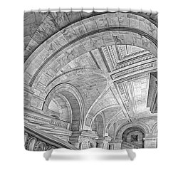 Nyc Public Library Shower Curtain by Susan Candelario