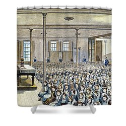 Nyc School Room, 1881 Shower Curtain by Granger