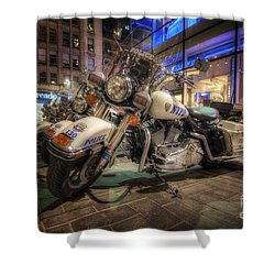 Nypd Bikes Shower Curtain by Yhun Suarez