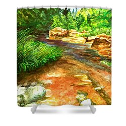 Oak Creek Red Shower Curtain