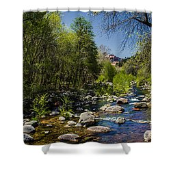 Oak Creek Shower Curtain by Robert Bales
