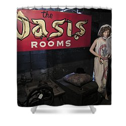 Oasis Bordello Basement - Wallace Idaho Shower Curtain by Daniel Hagerman