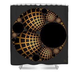Shower Curtain featuring the digital art Objects In Motion - Objects At Rest by Manny Lorenzo