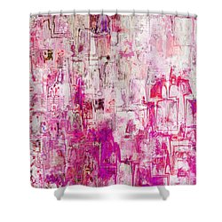 Oblong Abstract I Shower Curtain by Debbie Portwood