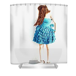 Obscured Shower Curtain by Lisa Phillips