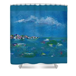 Shower Curtain featuring the painting Ocean Delight by Judith Rhue