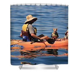 Ocean Kayaking Shower Curtain by Heidi Smith