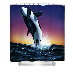 Ocean Leap Shower Curtain by MGL Studio - Chris Hiett