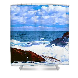 Ocean Surf Shower Curtain by Phill Petrovic
