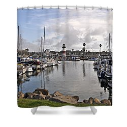 Oceaside Harbor Shower Curtain