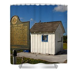 Ochopee Post Office Shower Curtain by David Lee Thompson