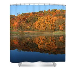 October Scene Shower Curtain by Karol Livote
