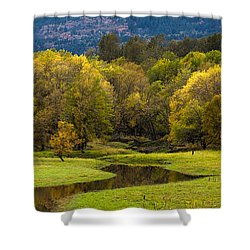 October Serenity Shower Curtain by Mike Reid