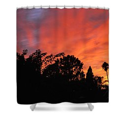 October Sunset 10 Shower Curtain