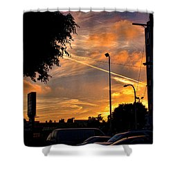 October Sunset 6 Shower Curtain