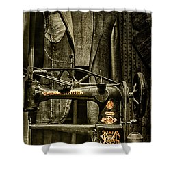 Ode To A Singer Shower Curtain by Chris Lord