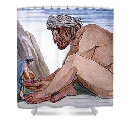 Odysseus & Cyclops Shower Curtain