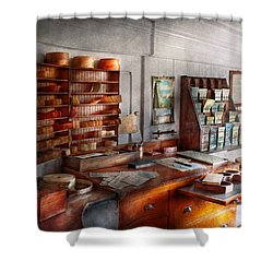 Office - The Purser's Room Shower Curtain by Mike Savad