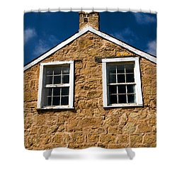 Shower Curtain featuring the photograph Officers Quarters by Travis Burgess