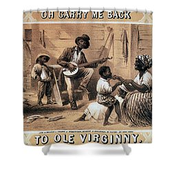 Oh Carry Me Back To Ole Virginny, 1859 Shower Curtain by Photo Researchers