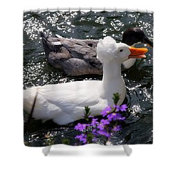 Oh Happy Day Shower Curtain by Karen Wiles