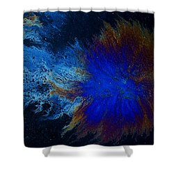 Oil On Pavement Cradle Of The World Shower Curtain