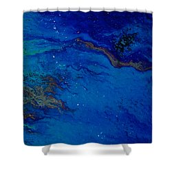 Oil On Pavement Dawns Highway Shower Curtain