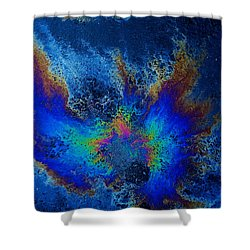 Oil On Pavement Find Your Wings Shower Curtain