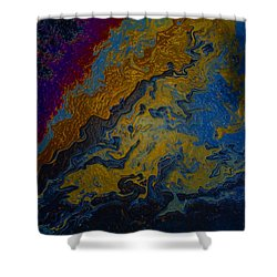 Oil On Pavement True Colors Shower Curtain