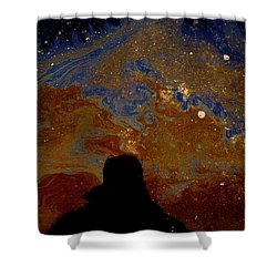 Oil On Pavement Visionary Shower Curtain