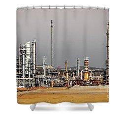 Oil Refinery Shower Curtain by Carlos Caetano