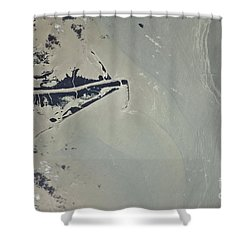 Oil Slick, Mississippi River Delta Shower Curtain by NASA/Science Source