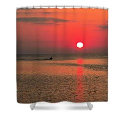 Okinawa Sunset Shower Curtain