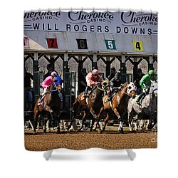 Oklahoma Horse Racing Shower Curtain