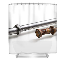 Old & New Nails Shower Curtain by Photo Researchers, Inc.
