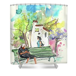 Old And Lonely In Portugal 04 Shower Curtain by Miki De Goodaboom