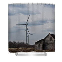 Shower Curtain featuring the photograph Old And New by Barbara McMahon