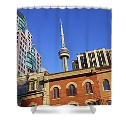 Old And New Toronto Shower Curtain by Elena Elisseeva