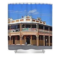 Old Aussie Pub Shower Curtain by Kaye Menner