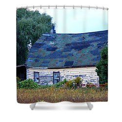 Shower Curtain featuring the photograph Old Barn by Davandra Cribbie