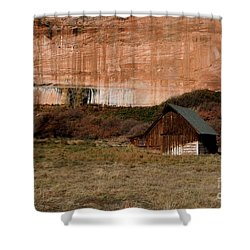 Old Barn In Angel Canyon #1  Shower Curtain by Nola Lee Kelsey