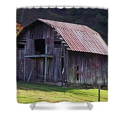 Old Barn In Etowah Shower Curtain