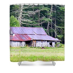 Old Barn Near Cashiers Nc Shower Curtain