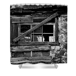 Old Barn Window Shower Curtain by Perry Webster