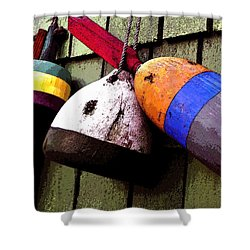 Old Bouys Shower Curtain by David Lee Thompson