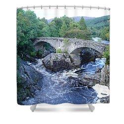 Old Bridge At Invermoriston Shower Curtain