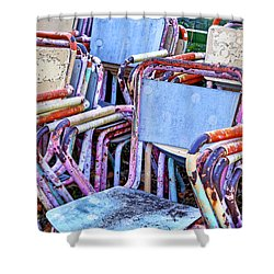 Old Chairs Shower Curtain by Joana Kruse
