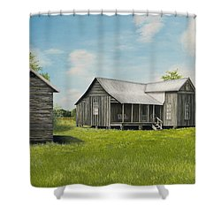Old Clark Home Shower Curtain